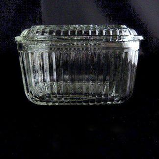 Vintage Clear Glass Fridge