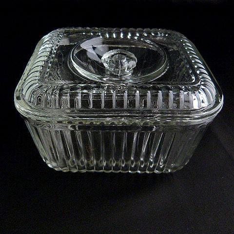 Vintage Federal Clear Glass Fridge