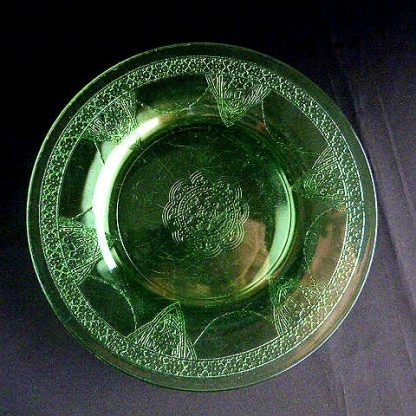 Vintage Green Glass Salad Plate