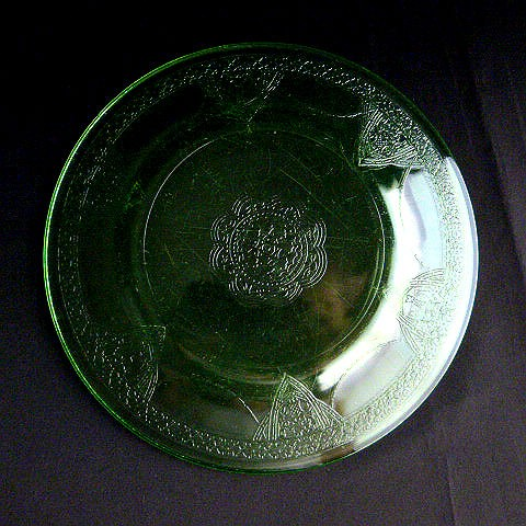 Vintage Green Glass Salad Plate