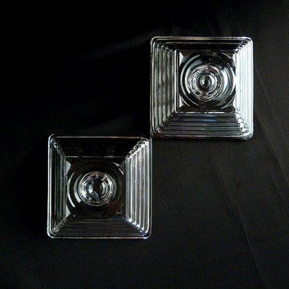 Manhattan Clear Glass Candle Holders
