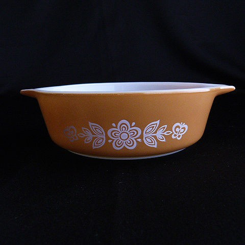 Pyrex Butterfly Gold 471 1 Pint Bowl