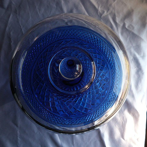 "12"" Blue Pedestal Cake Stand"