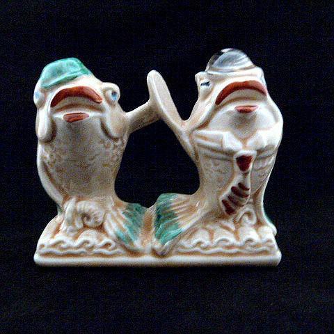 Vintage Ceramic Salt and Pepper Shakers