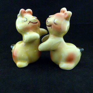 Mid-Century Ceramic Hugging Salt and Pepper Shakers