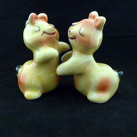 Mid-Century Ceramic Hugging Salt and Pepper Shakers