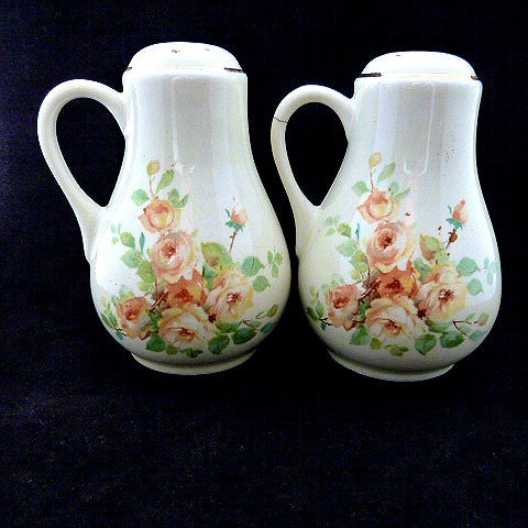 Large Range Shakers Yellow Rose Pattern by Hall Pottery