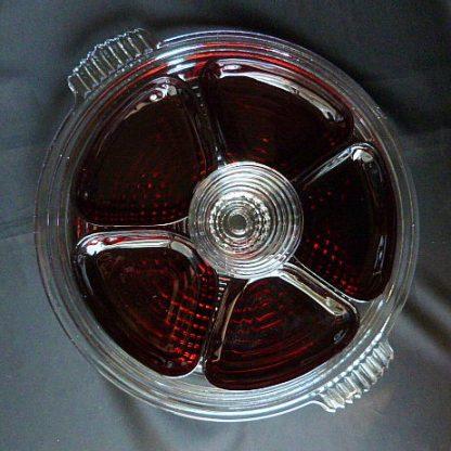 Vintage Manhattan Ruby Red Relish Set