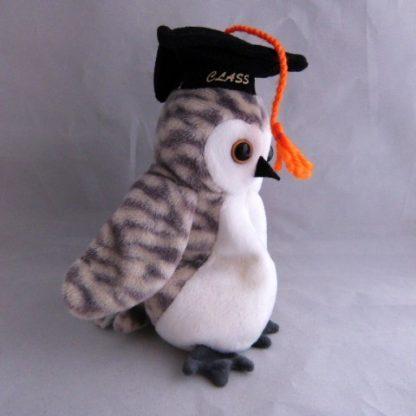 Vintage Graduation Owl Beanie Baby 1998