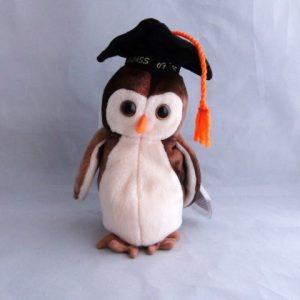 Vintage Graduation Owl Beanie Baby 1999