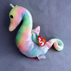 Vintage SeaHorse Beanie Baby Neon
