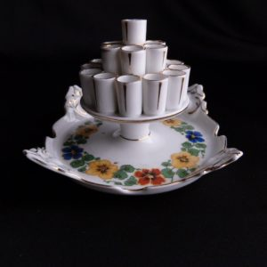 Porcelain Hand-painted Cigarette Holder/Ashtray