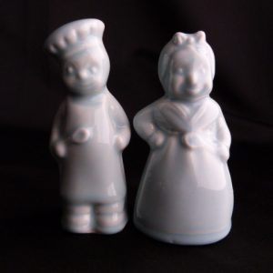 Black Americana Salt & Pepper Shakers