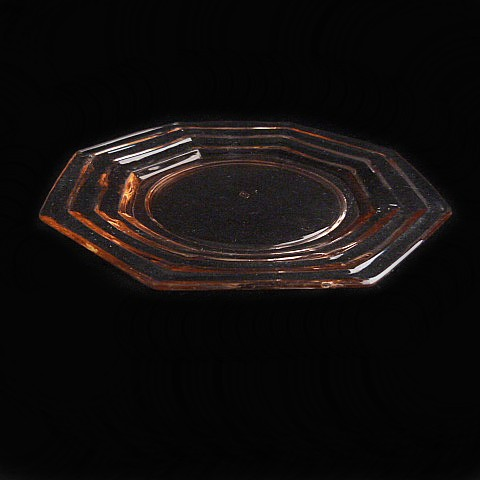Pink Depression Glass Salad Plate