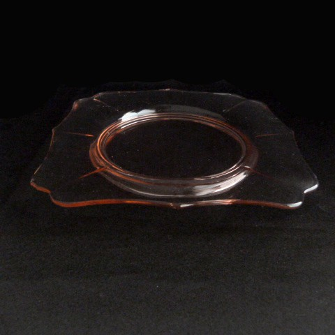 Pink Depression Glass Lunch Plate