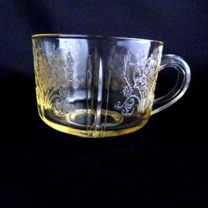Yellow Depression Glass Cup