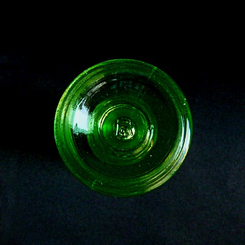 Green Glass Salt Shaker