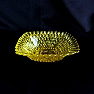 Depression Yellow Glass Candy Dish