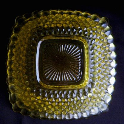 Depression Yellow Glass Candy Dish