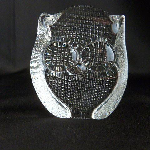 Clear Glass Owl Figurine