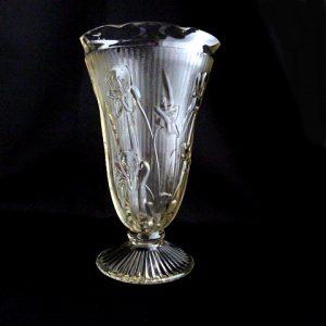 Clear Glass Depression Vase