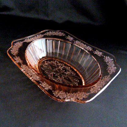Depression Glass -Jeannette Adam Pink Oval Serving Bowl