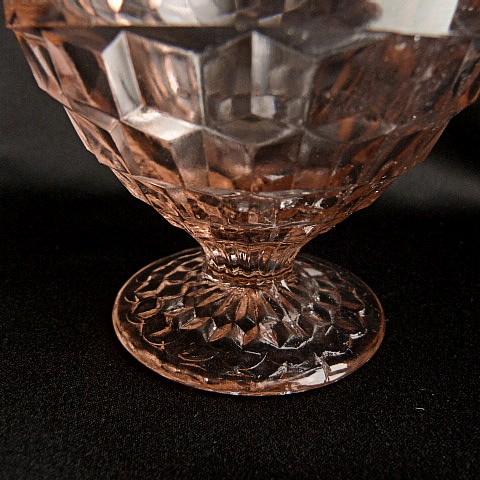Pink Cube Sherbet Glass Dish