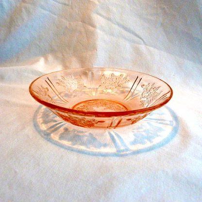 Depression Pink Sharon Rose/Cabbage Cereal Bowl