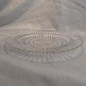 Clear Glass Queen Mary Saucer