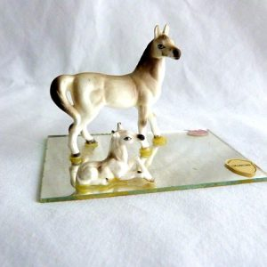 Bone China Mare and Foal Souvenir of Oklahoma