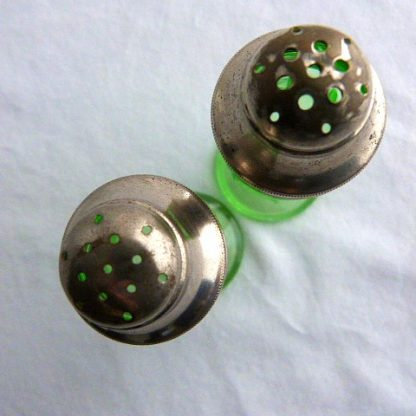 Green Glass Salt & Pepper Shaker