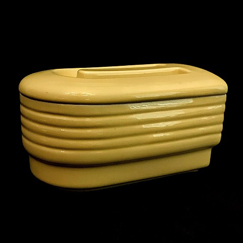Hall Westinghouse Yellow Line Refrigerator Jar