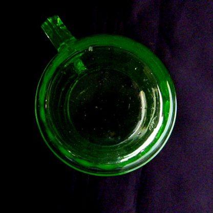 Block Optic Green Glass Coffee Mug
