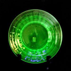 Green Depression Block Optic Glass Salad