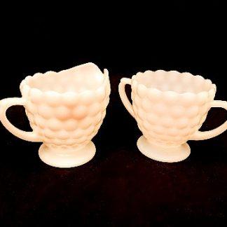 Milk Glass Sugar/Creamer