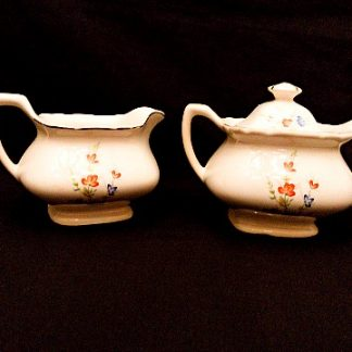 Porcelain Sugar and Creamer