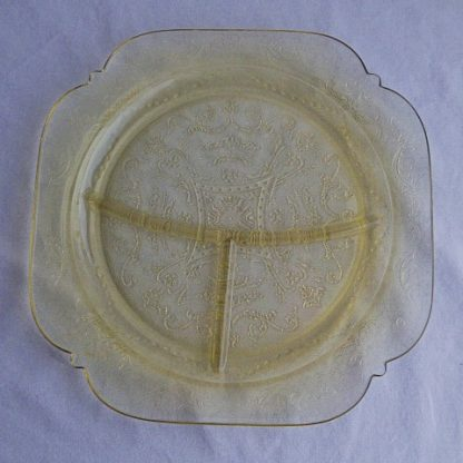 Federal Glass Madrid Grill Plate Amber