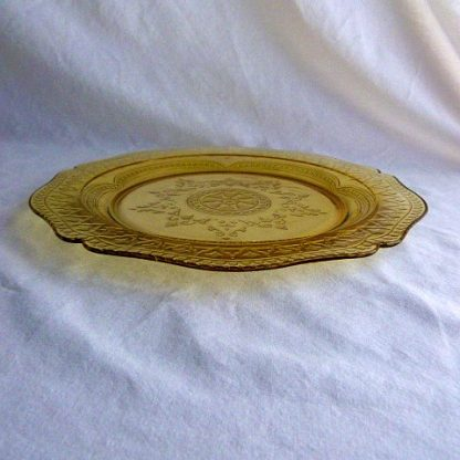 Federal Glass Amber Dinner Plate