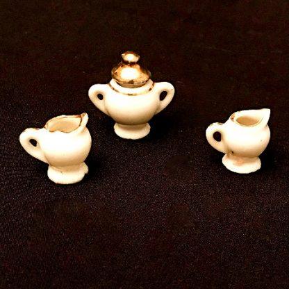 Vintage Porcelain Miniature Tea Set