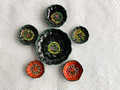 Vintage Terracotta Clay Miniature Dish Set
