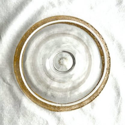 Vintage Clear Glass Gold Trimmed Candy Bowl